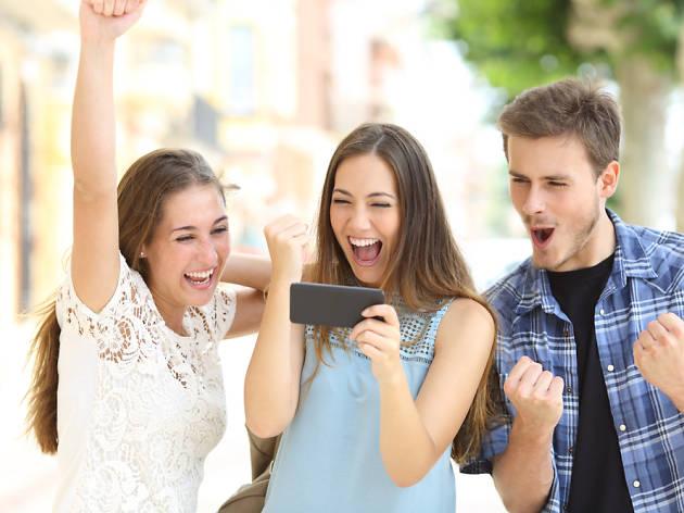 Descompte, mòbil, smartphone, oferta