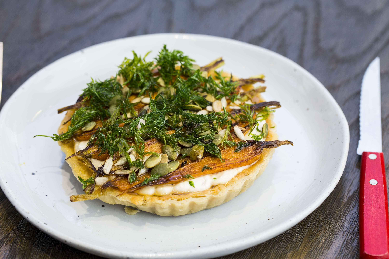 Feather & Bone - carrot tart