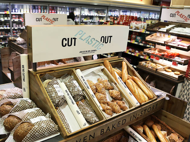 This London supermarket is among the first in the world to introduce plastic-free zones