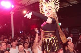 Drag queen on stage at Sircuit