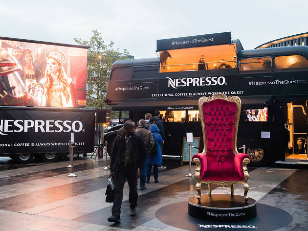 Nespresso bus King's Cross