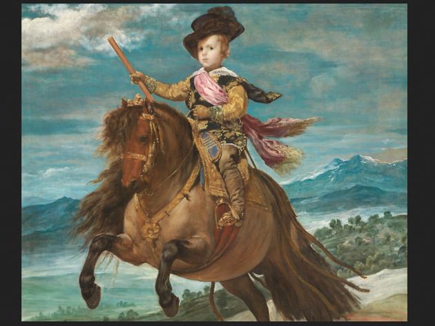 'El príncipe Baltasar Carlos, a caballo'. © Velázquez. Museu del Prado