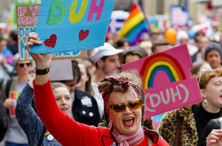 Crowd in Melbourne at Same Sex Marriage Rally 2017