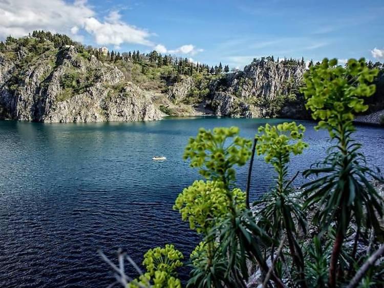 Splash around a freshwater lake