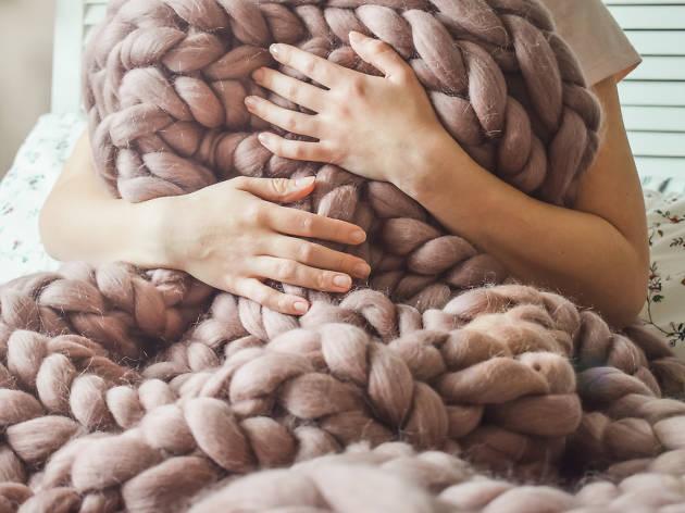 Punto tejer lana