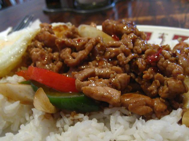 Thai food at chedi thai