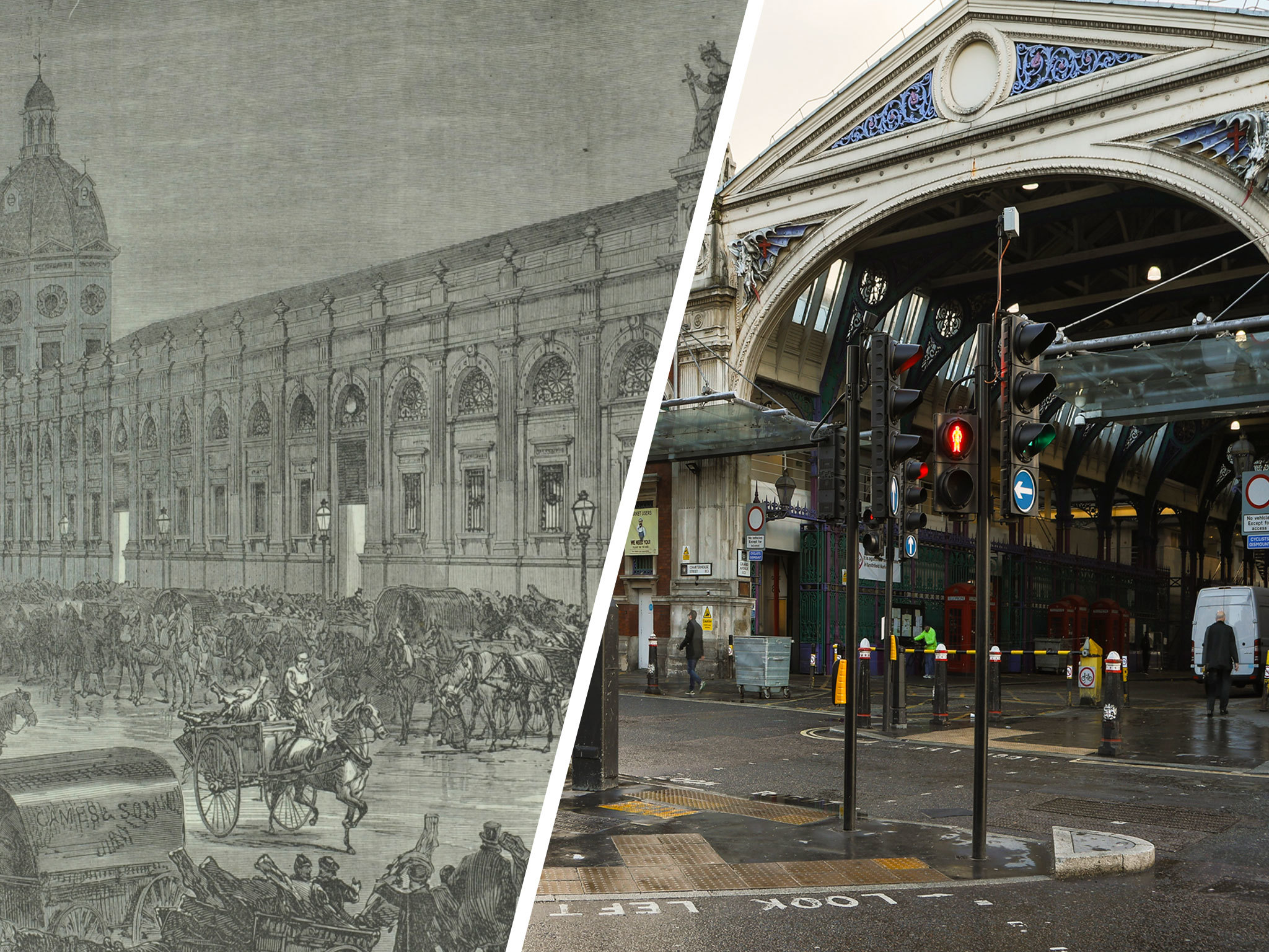 Then and Now: Smithfield Market