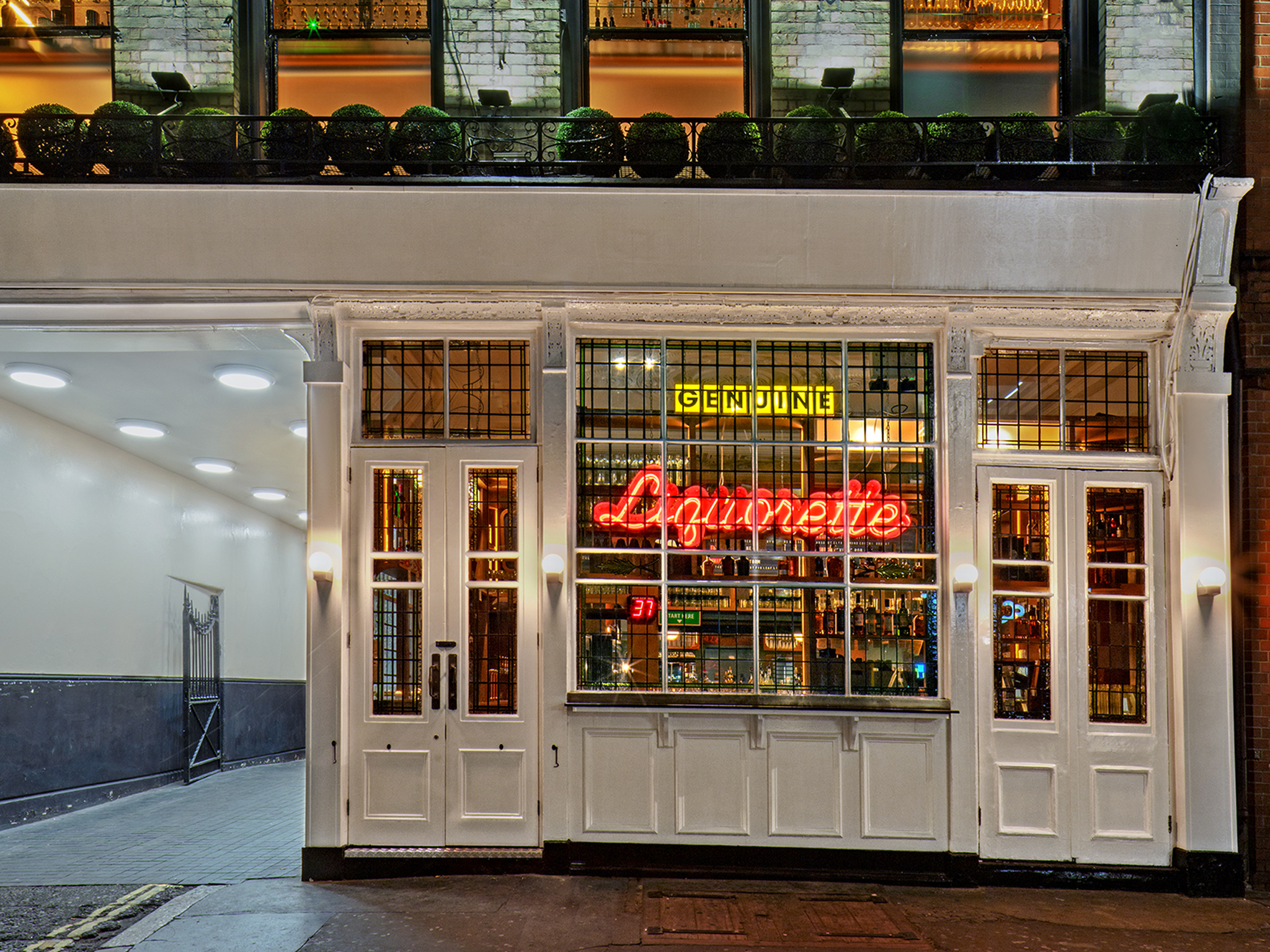 genuine liquorette, neon bars london