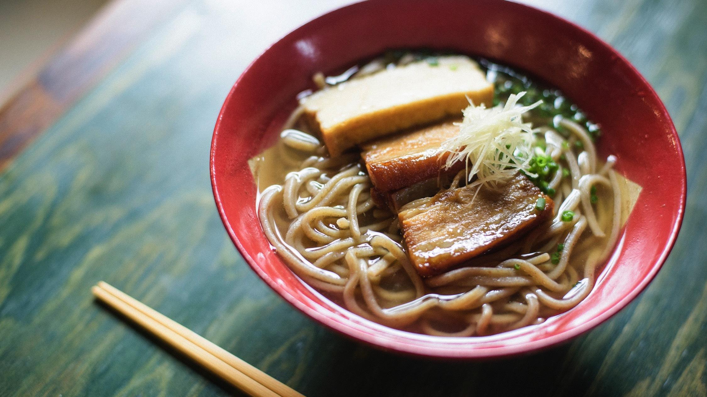 Okinawa's most popular noodle dish Okinawan soba