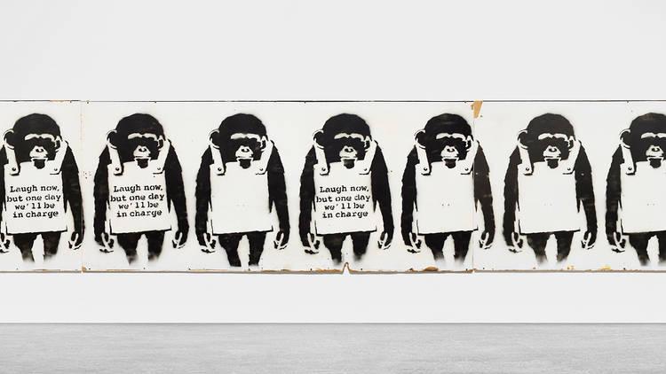 Banksy, Laugh Now, 2002