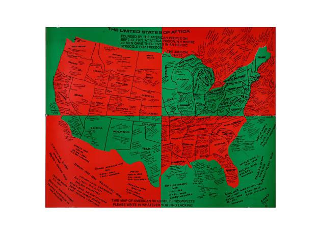 Faith Ringgold, United States of Attica, 1971-1972