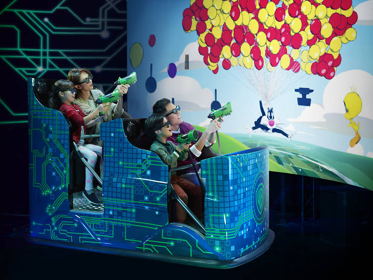 Enjoy family fun time at the Warner Bros Fun Zone