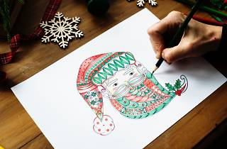 Aprender a fazer postais de Natal é uma das propostas