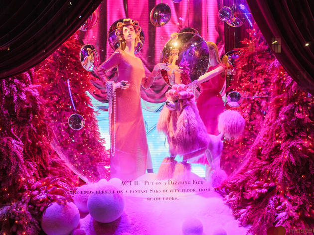 "Saks Fifth Avenue & Broadway Cares/Equity Fights AIDS unveil: ""Theater of Dreams"" 2018 Holiday Windows and Light Show"