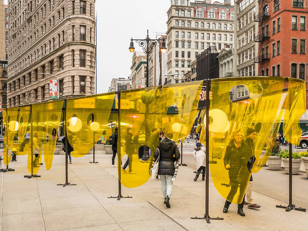 A captivating new sculpture has popped up in front of the Flatiron Building