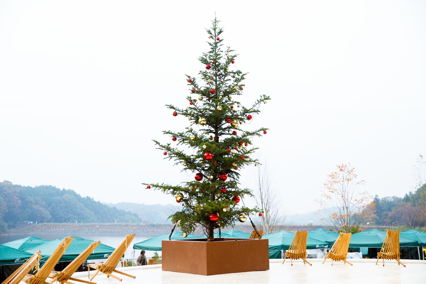 湖畔と森 北欧のクリスマスマーケット
