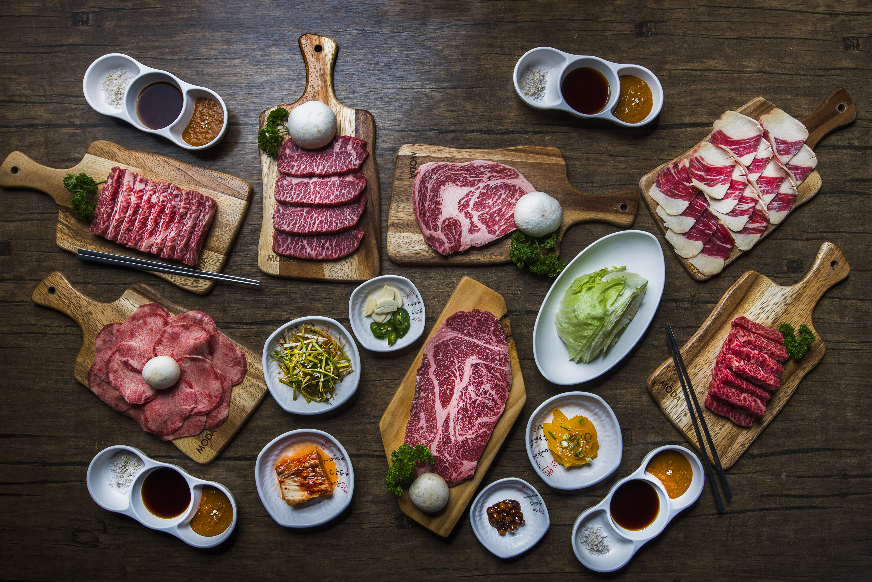 A selection of food destined for a barbecue grill
