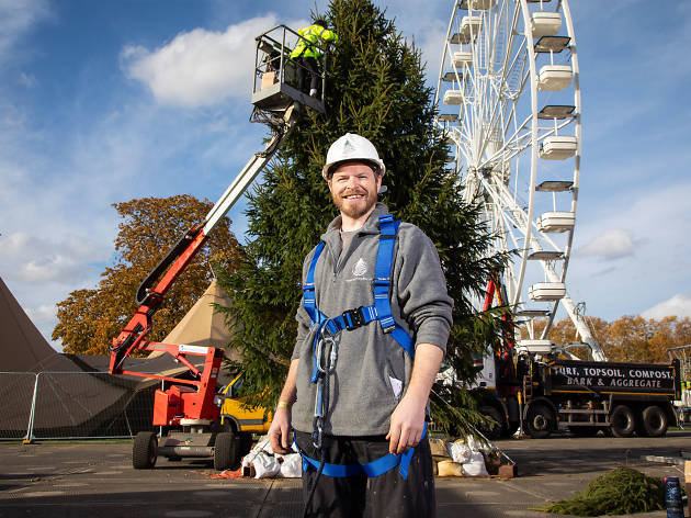 Mike DeButts, Christmas tree supplier for Pines and Needles