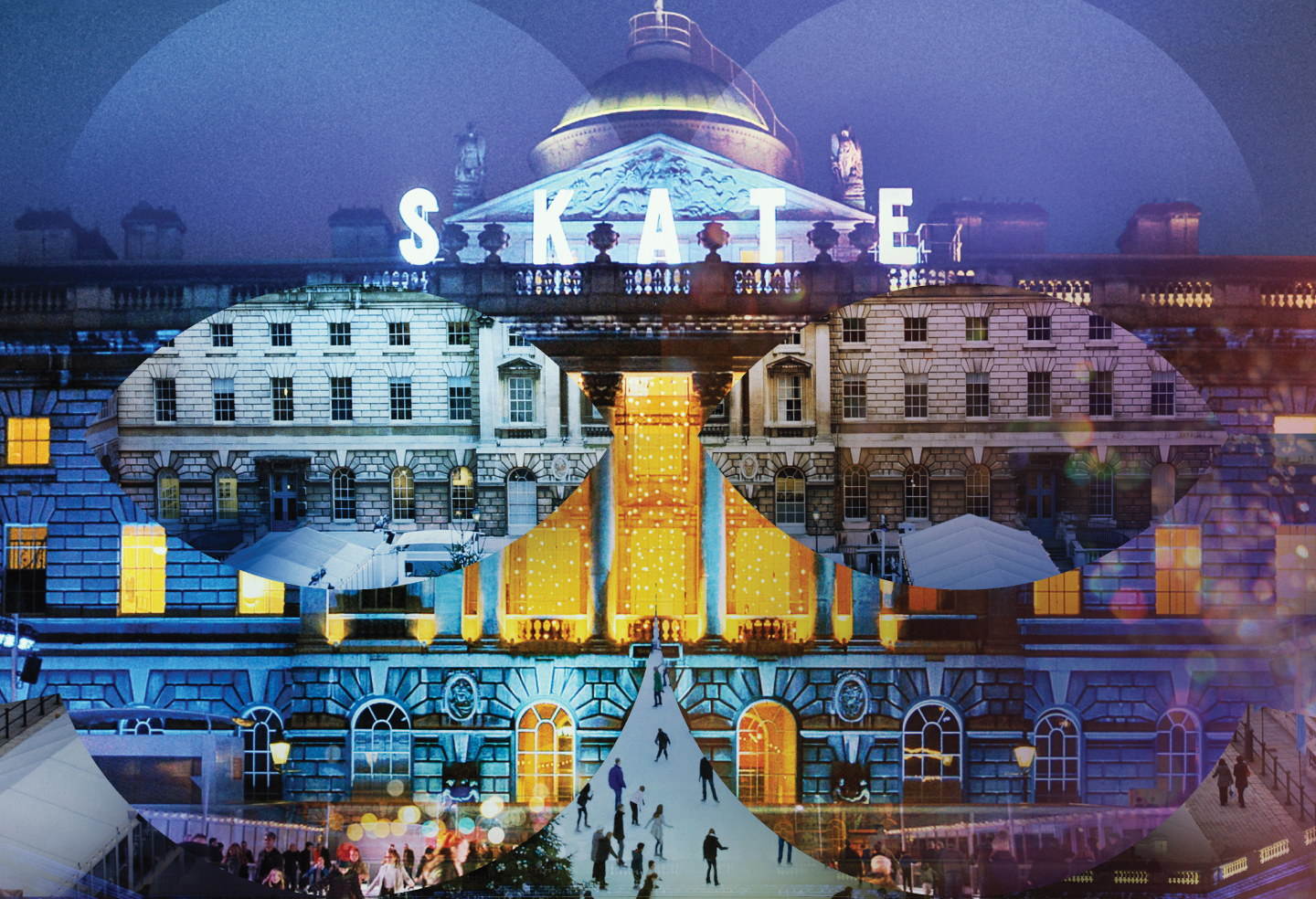 Do not reuse. Skate at Somerset House for Baileys campaign.