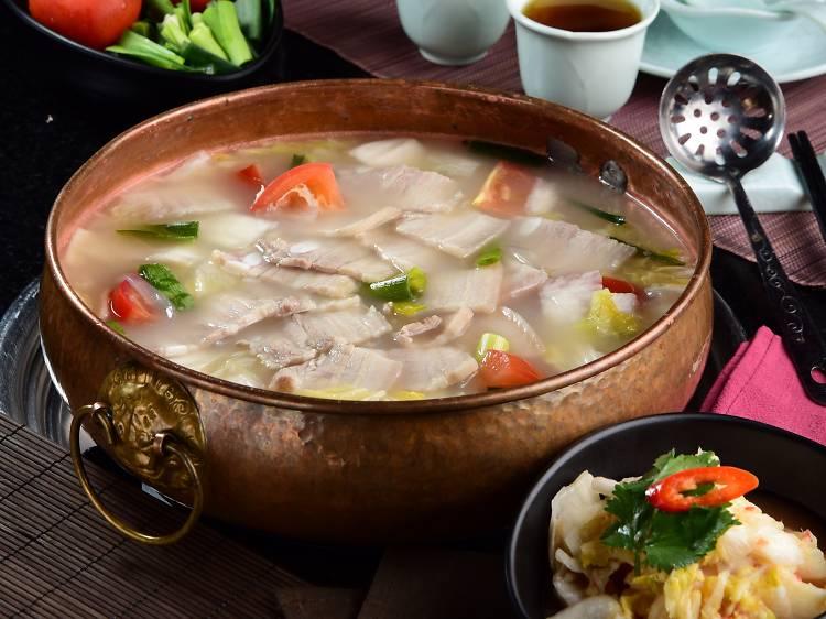 老鍋:美顏蜜瓜響螺花膠鍋