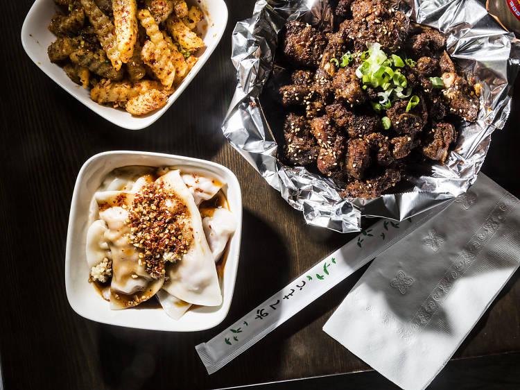 Handmade bell dumplings at  A Place by Damao