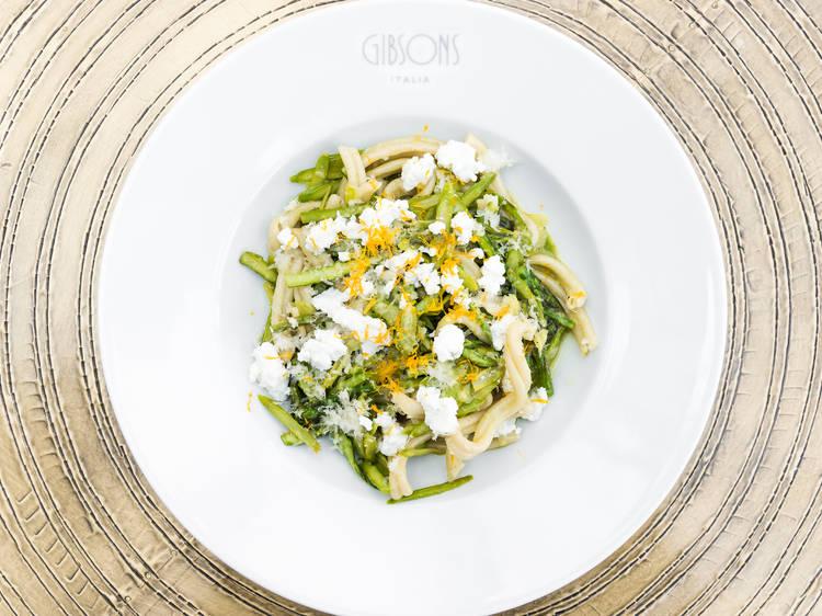 Casarecce pasta at Gibsons Italia