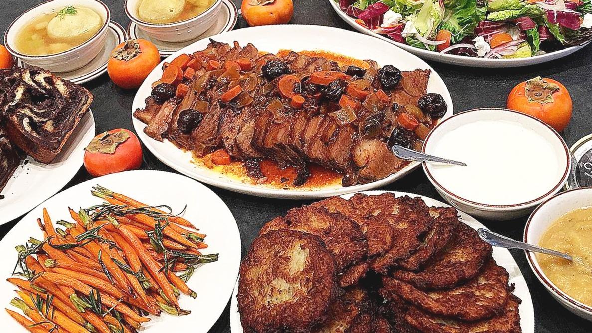 Wexler's Deli Hanukkah meal catering