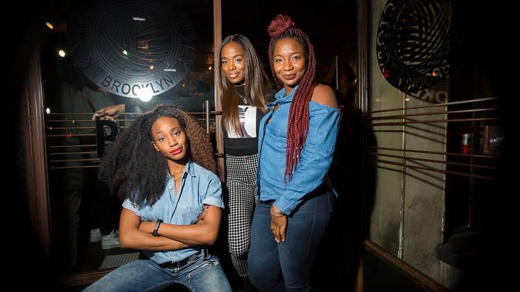 Marie Faustin, Sydnee Washington and Aminah Imani