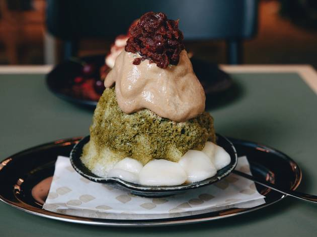 Japanese kakigori at Devon Cafe, iced dessert