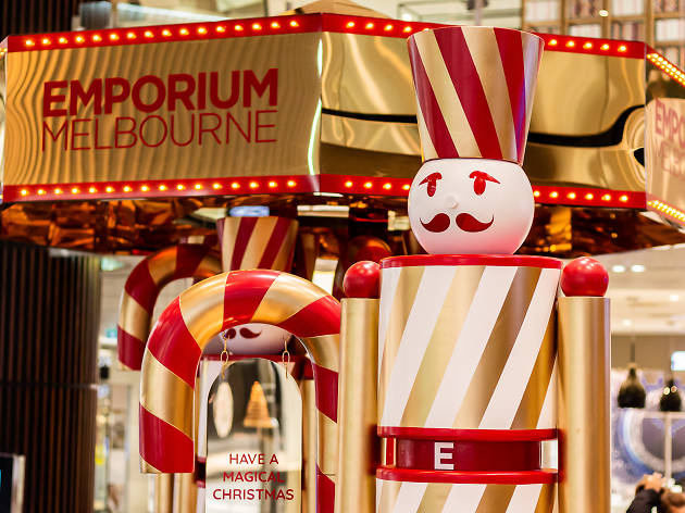 The Nutcracker and the Four Realms installation at Emporium Melbourne