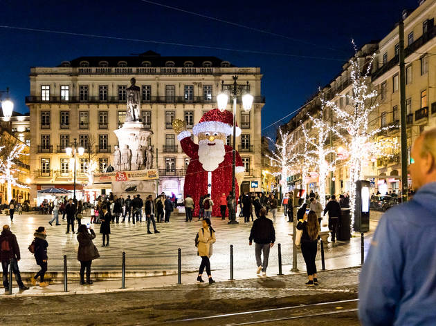 Pai Natal no Largo Luís Camões