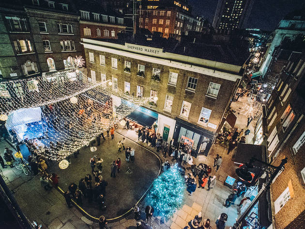 Shepherd Market Christmas Lights Switch On