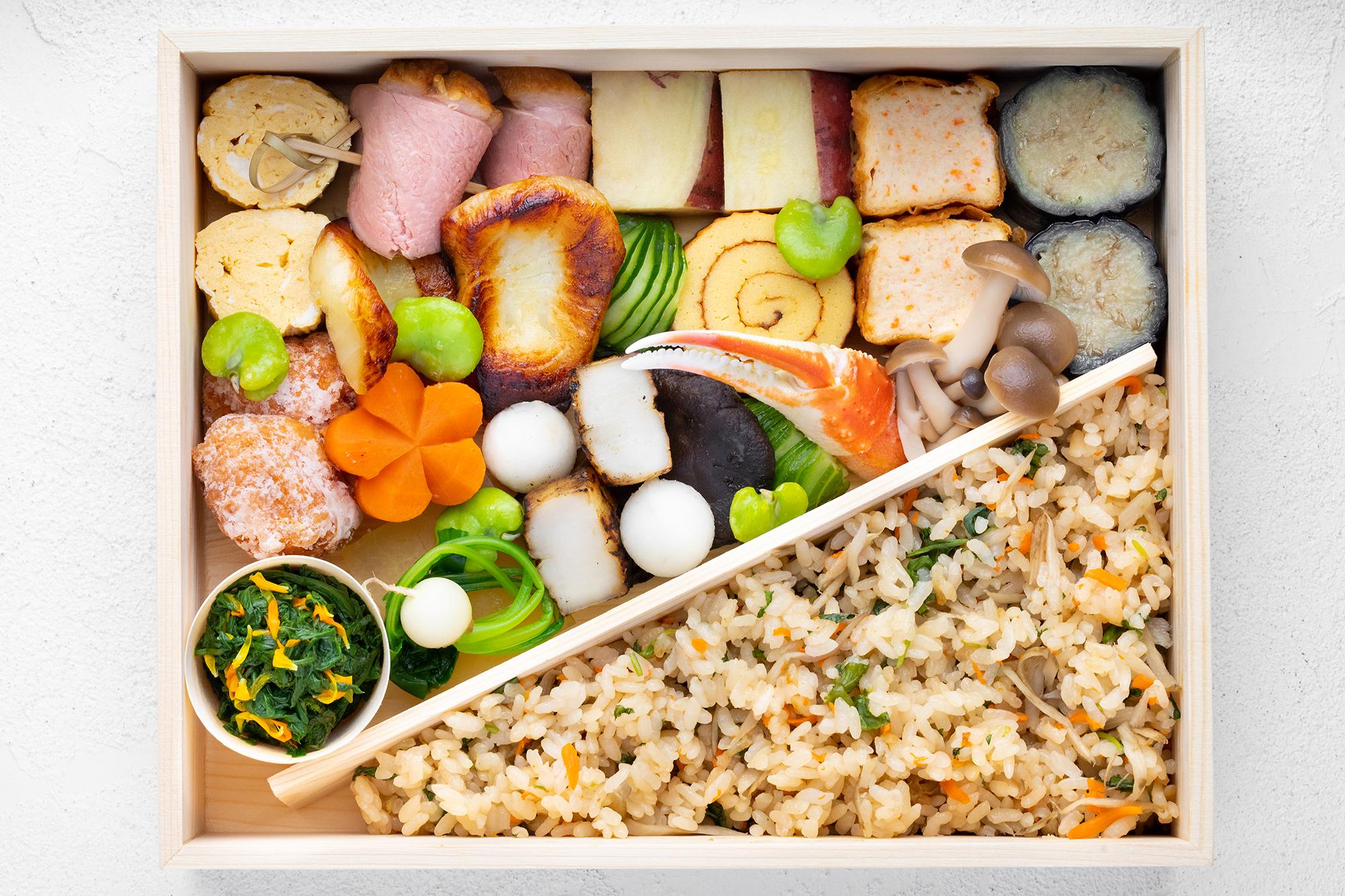Japanese bento box at Hayato in ROW DTLA