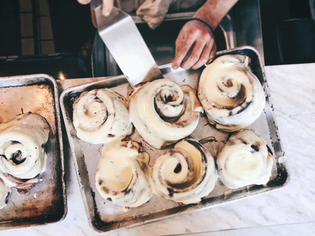 Secret Menu cinnamon roll at Little Prince in Santa Monica by Ari Taymor
