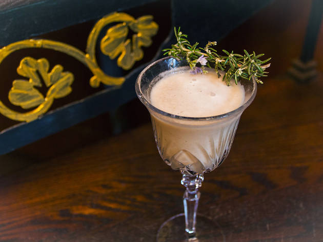Banana Cream with Some Herbs cocktail at The Wolves Downtown Los Angeles