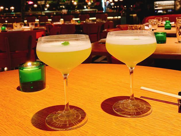 Yuzu martini at Chotto Matte