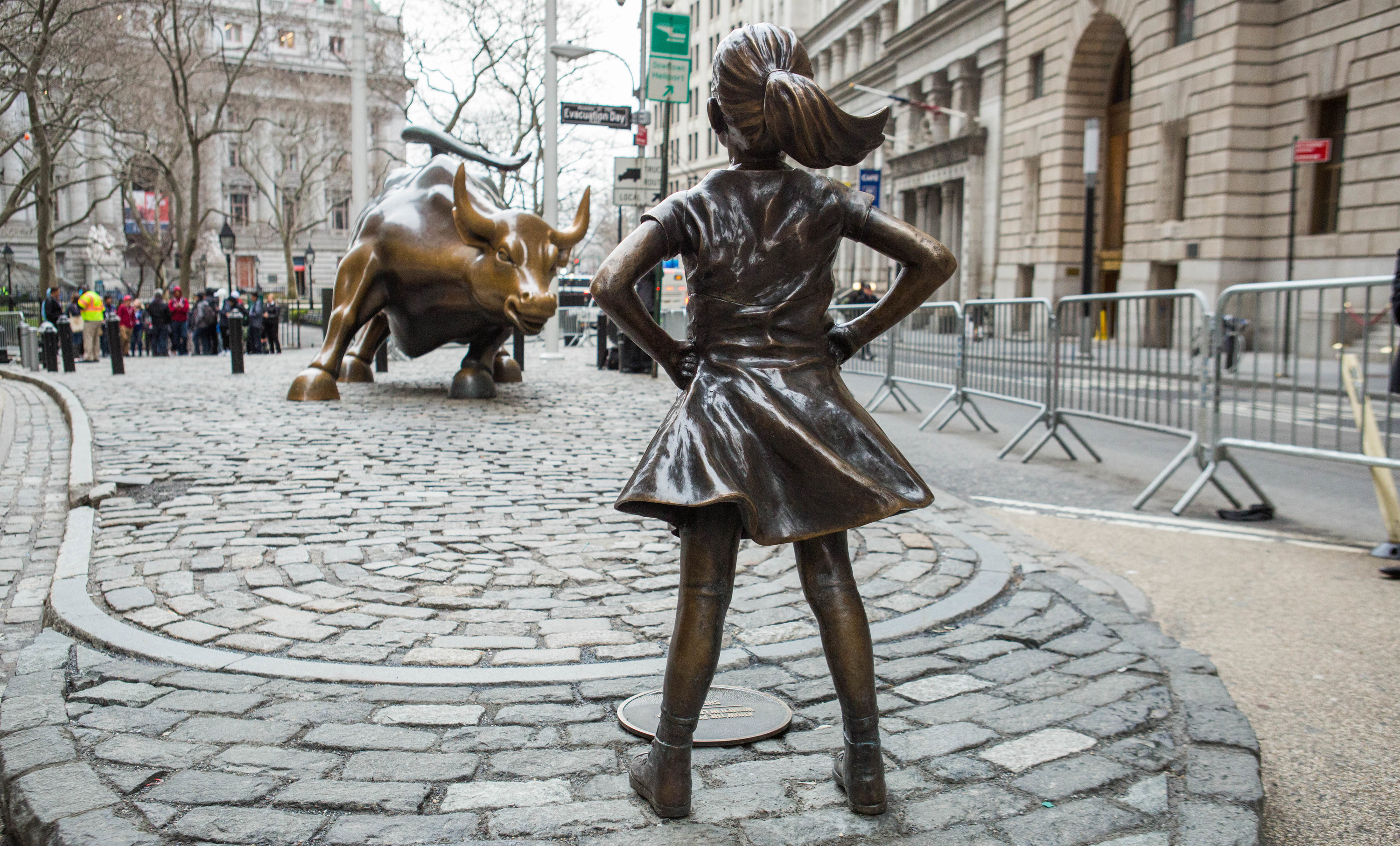 Fearless Girl statue has been moved from its spot opposite the Wall Street Bull