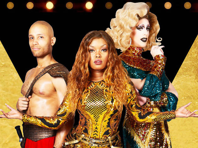 Christian Brailsford, Nya, and Dusty Ray Bottoms in Cleopatra