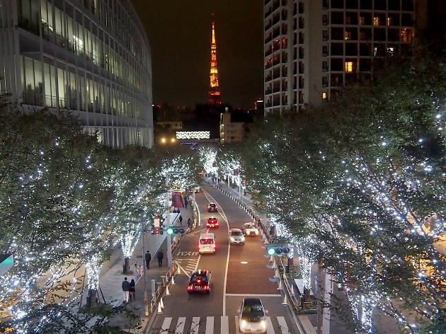 Roppongi Hills Keyakizaka Illumination Tokyo Tower