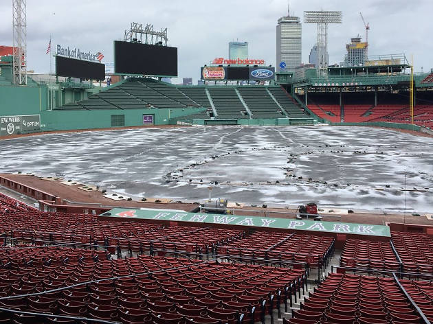 Fenway Park in the snow