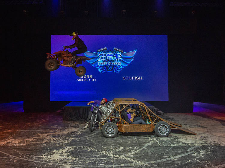 Check out the most electrifying new stunt show, Elekron