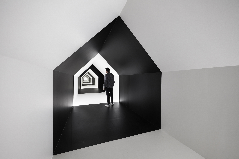 Installation view of Escher x nendo | Between Two Worlds