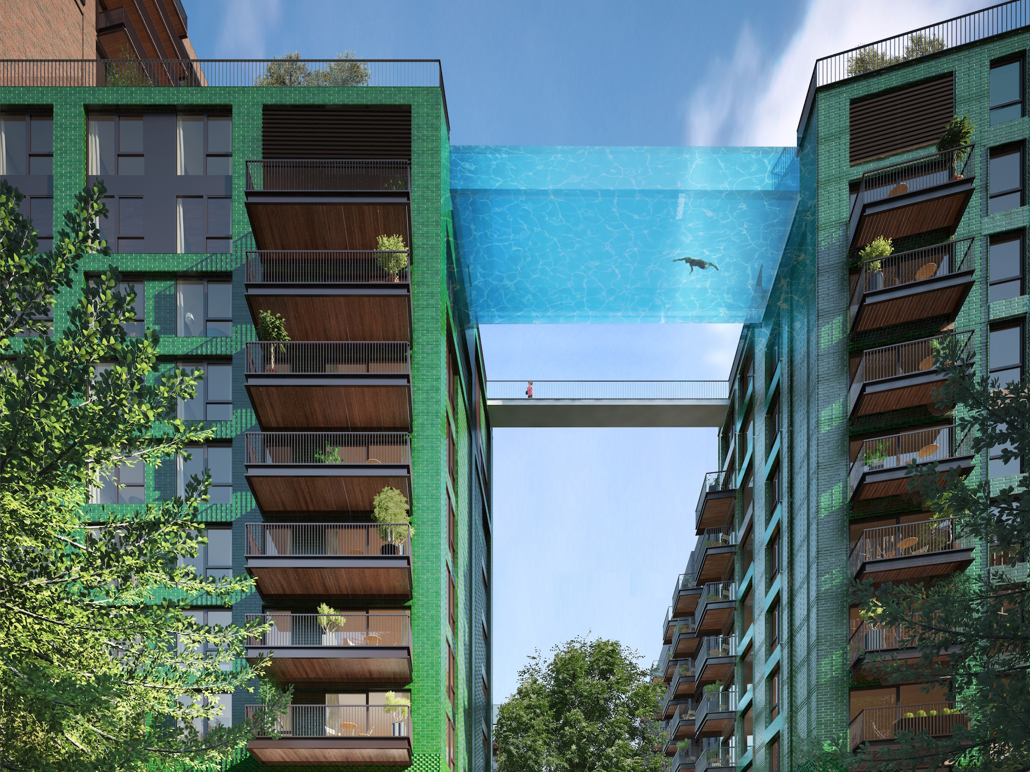 Sky Pool at Embassy Gardens