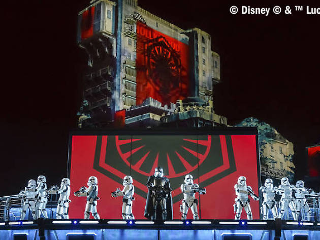 Do not reuse. COPYRIGHT ADDED Star Wars: A Galactic Celebration show - Disneyland Paris Legends of the Force campaign.