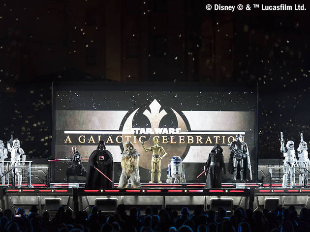 Do not reuse. COPYRIGHT ADDED. Star Wars: A Galactic Celebration show - Disneyland Paris Legends of the Force campaign.