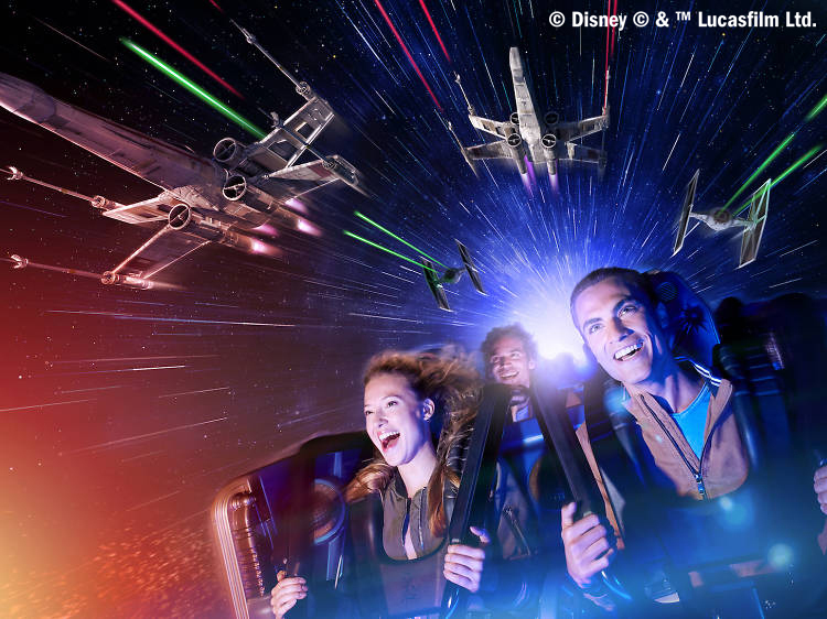 Do not reuse. COPYRIGHT ADDED. Hyperspace Mountain - for Disneyland Paris Legends of the Force, Star Wars, campaign