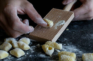 Hand pressed pasta shapes