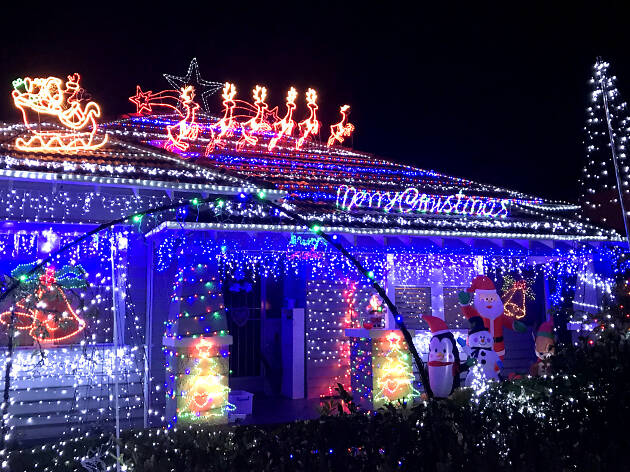Where to find Christmas lights in Melbourne