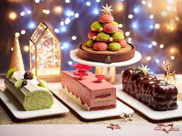 Gianduja Caramel Log Cake