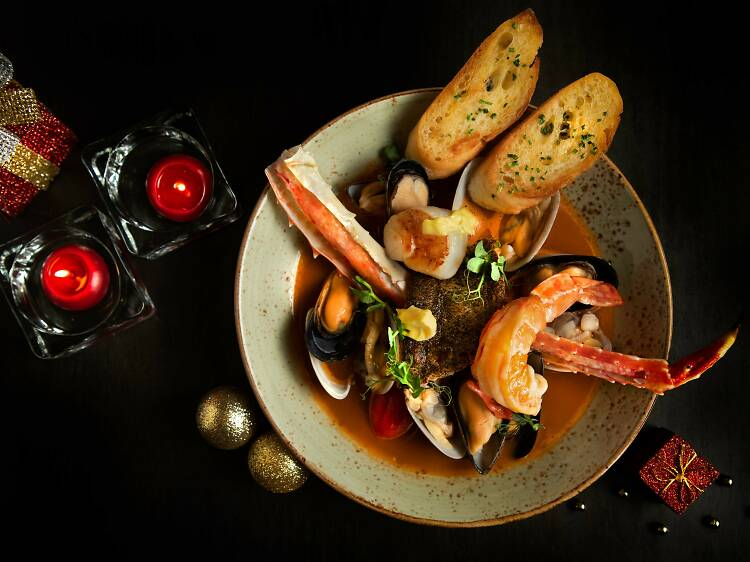 Tuck into a festive meal at La Table French Brasserie